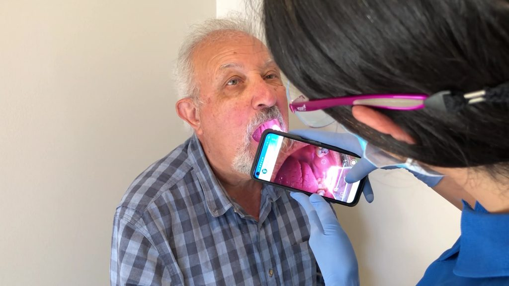 TelScope Telehealth System Examination & Intraoral Camera Tool used for Teledentistry in Aged Care Facilities & Nursing Homes